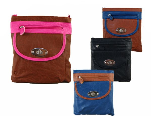 Bag with Long Belt Bicolor Mix Model 2440