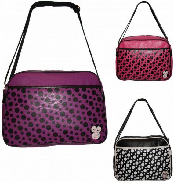 CB32 Owls Dots<br> Women&#39;s<br> Handbag Large A4 ...
