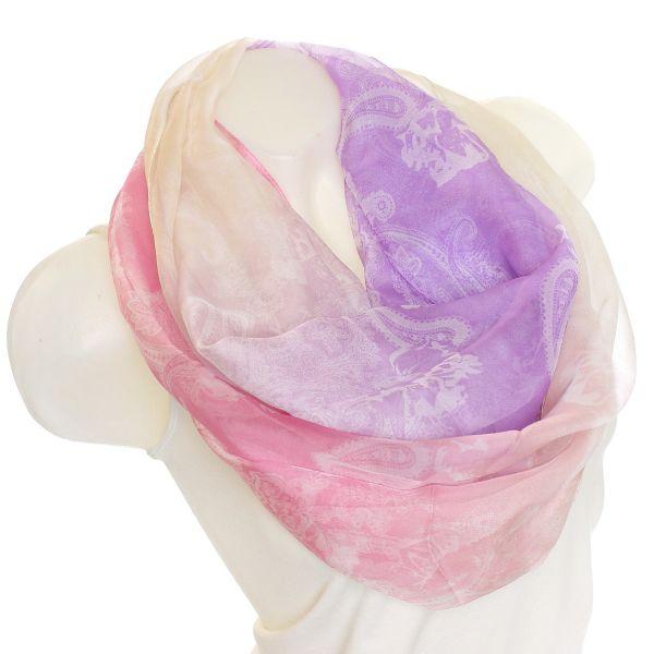 Damen Loop schal<br> Tuch gute Qualität<br>SZ-1401 Pink