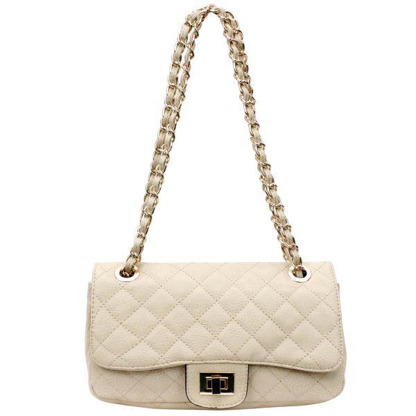 Shoulder bag good<br>quality 108 Cream
