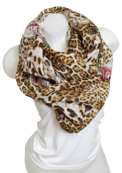 Ladies Loop scarf<br> scarf good quality<br>9D0283Schwarz