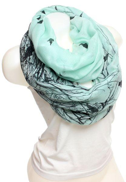 Damen Loop schal<br> Tuch gute Qualität<br>SM14003L Mint