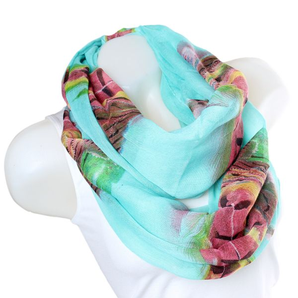 Ladies Loop scarf<br> scarf good quality<br>XF14-3 Mintbl