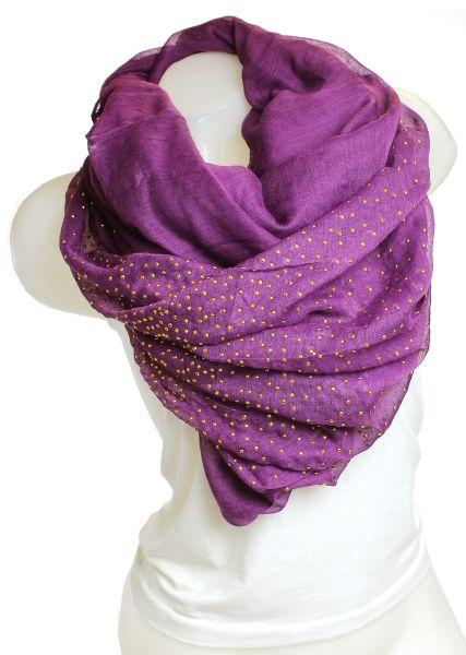 Damen Schal Tuch<br> Langschal 9D0195<br>Violett