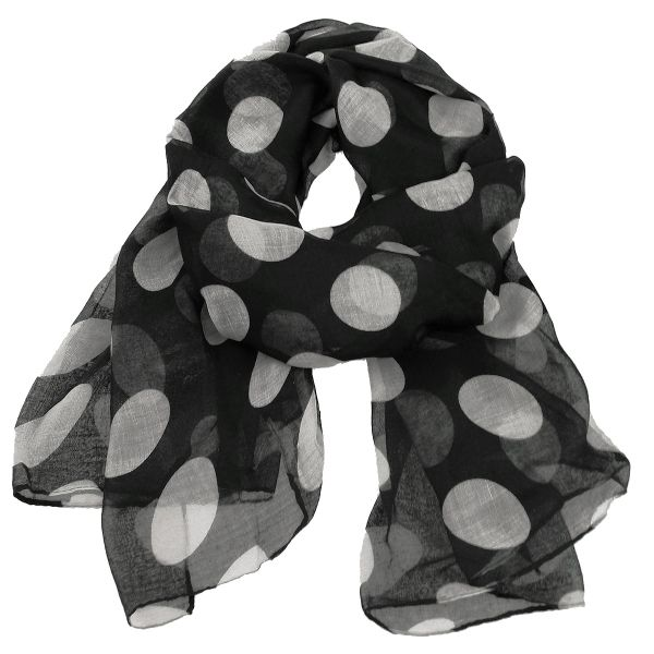 Ladies scarf shawl<br>SCARF 9D0155 Black