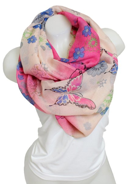 Ladies Loop scarf<br> scarf good quality<br>9D0285 Pink