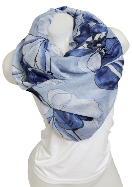 Ladies Loop scarf<br> scarf good quality<br>9D0286 Blue