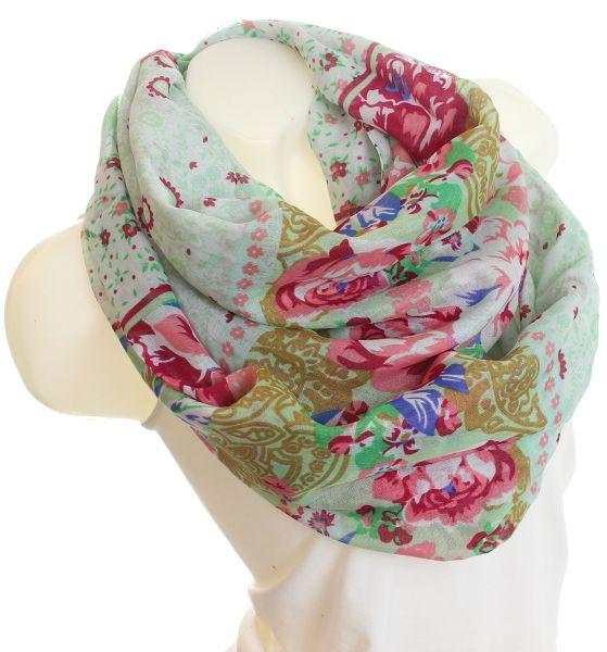 Ladies Loop scarf<br> scarf good quality<br>9D0030 Green