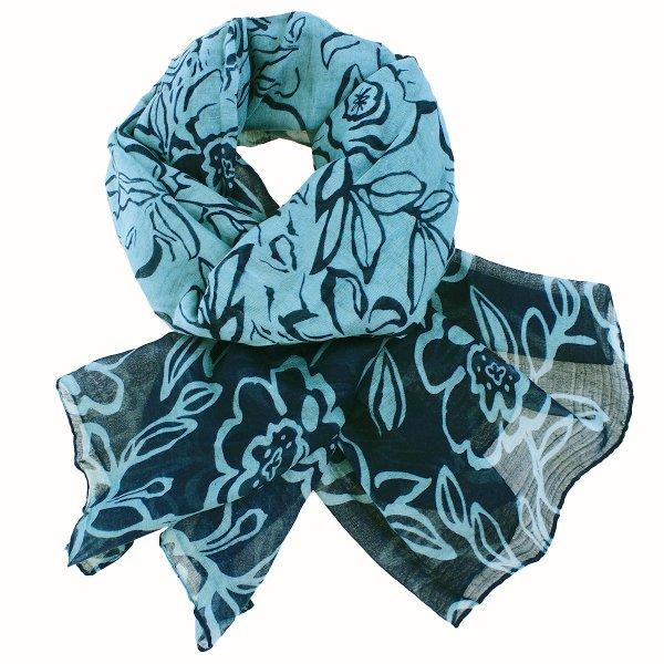 Damen Schal LONG<br>SCARF 9D0154 blau