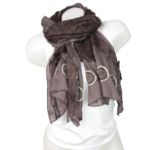 Ladies Loop scarf<br> good quality cloth<br>150897 Brown