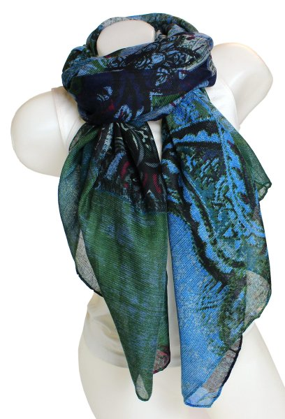 Ladies Loop scarf<br> scarf good quality<br>9D0191 Blue