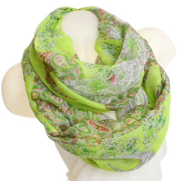 Ladies Loop scarf<br> scarf good quality<br>9D0037 Neon