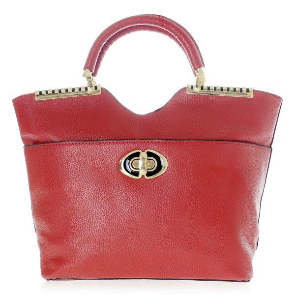 Shopper Tasche<br> Damentasche<br>Handtasche T53 Rot