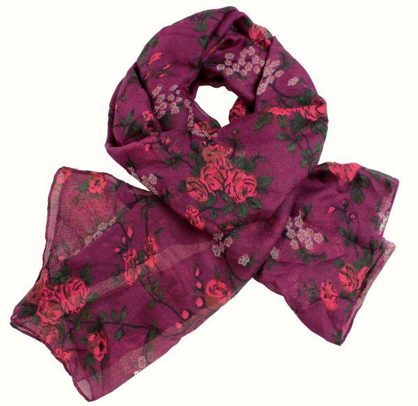 Ladies scarf shawl<br>SCARF 9D0159 Purple