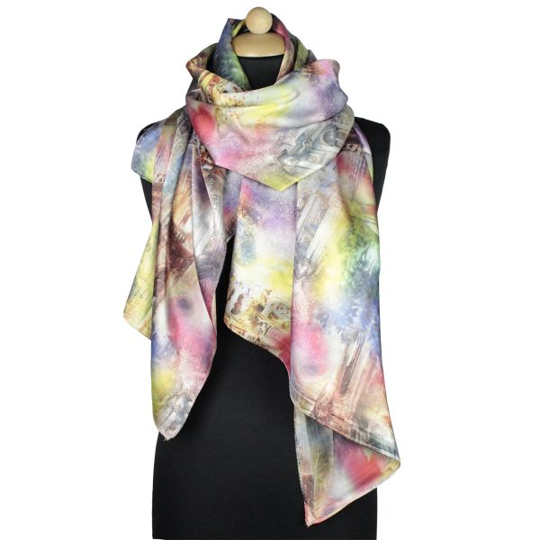 Ladies Scarf good<br> quality 150989 red<br>with colored