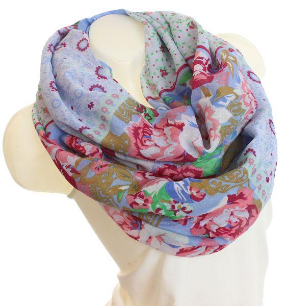 Ladies Loop scarf<br> scarf good quality<br>9D0030 Blue