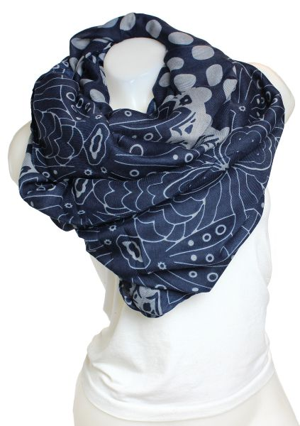 Ladies Scarf Long<br>Scarf 9D0190 blue