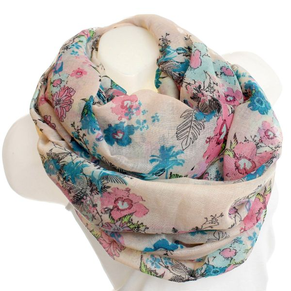 loop scarf beige 728WB