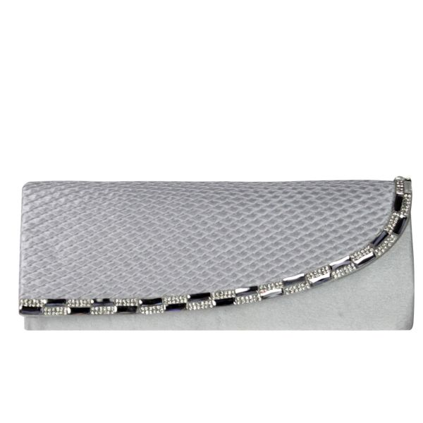 Evening bag ladies<br> good quality T0007<br>Silver