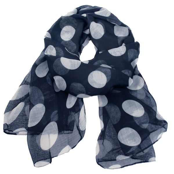Ladies scarf shawl<br>SCARF 9D0155 Blue