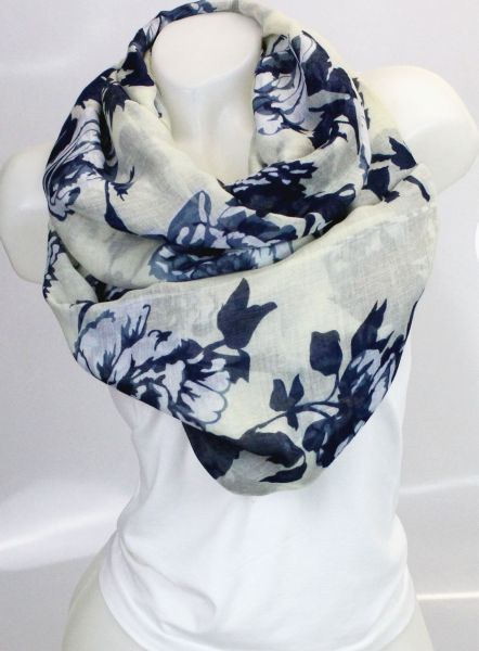 Ladies Loop scarf<br> scarf good quality<br>9D0325 Cream