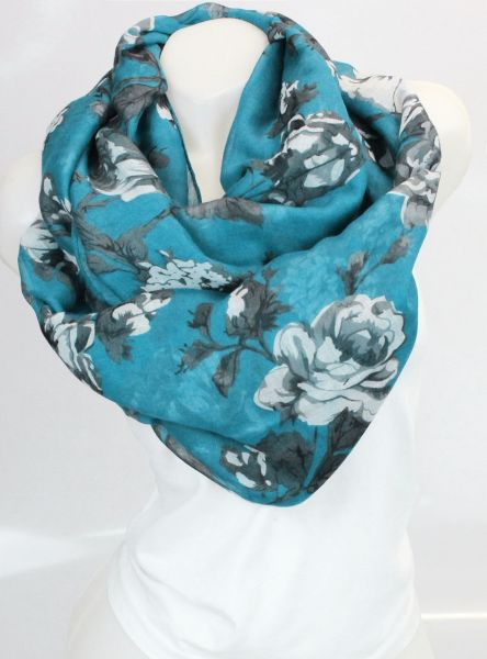 Ladies Loop scarf<br> scarf good quality<br>9D0325 Turquo