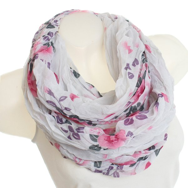 Ladies Loop scarf<br> scarf good quality<br>9D0020Weiß