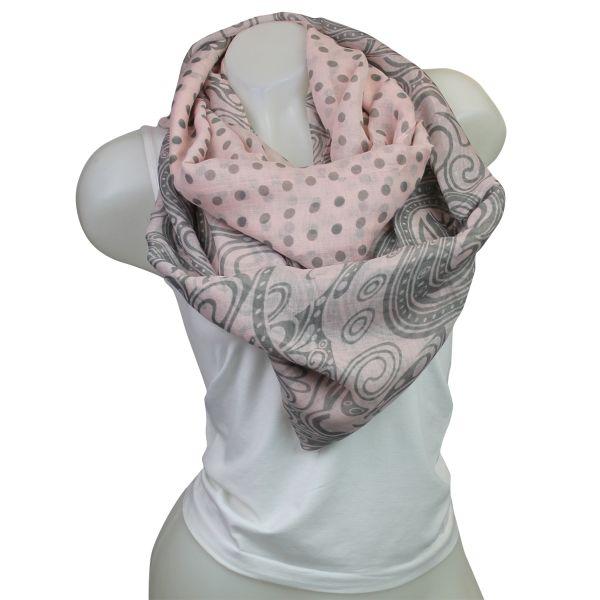 Damen Loop schal<br> Tuch gute Qualität<br>150495 Rosa