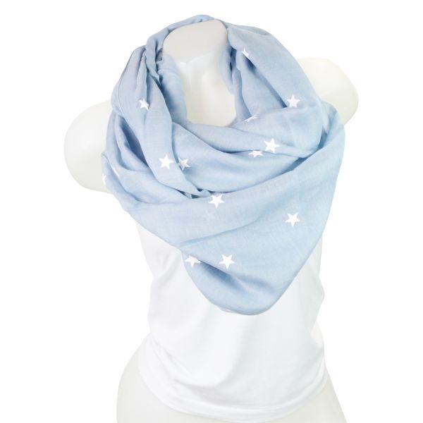 Damen Loop schal<br> Tuch gute Qualität<br>150805 Blau