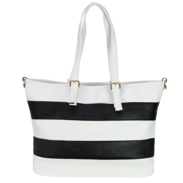 Shoulder bag good<br> quality 868 White,<br>Black White