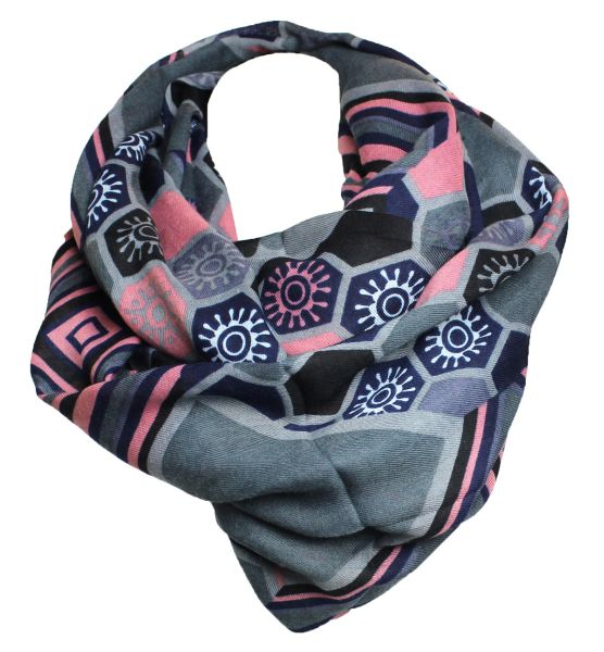Snood Scarf Loop<br> cloth 9D0187 gray<br>pink