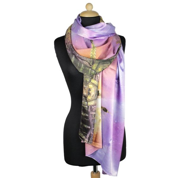 Ladies Scarf good<br> Qualität150991<br>lilac with B