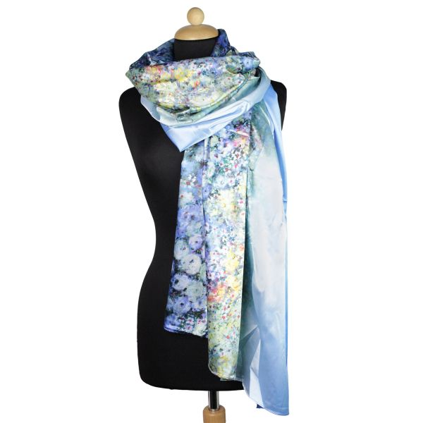 Ladies Scarf good<br> Qualität150994<br>blue with colored