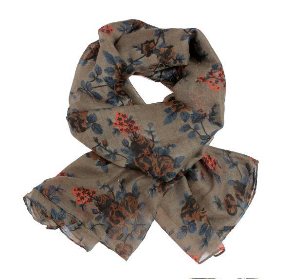 Dames sjaal shawl<br>sjaal 9D0159 Brown