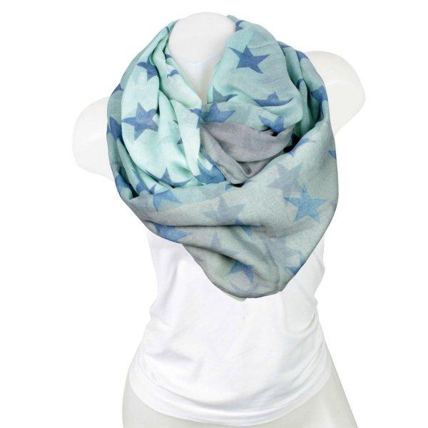 Damen Loop schal<br> Tuch gute Qualität<br>150878 Türkis
