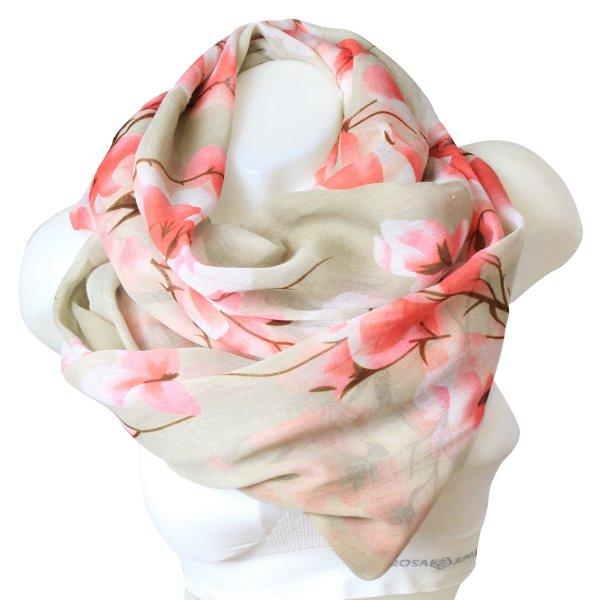 Ladies Loop scarf<br> scarf good quality<br>9D0243 Khaki