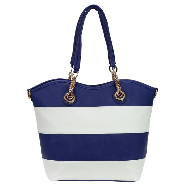 Shoulder bag good<br> quality 866 Blue,<br>White
