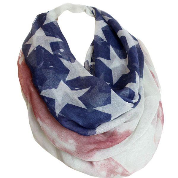 Schlauchschal<br> Damen Rundschal<br>USA Flagge 1
