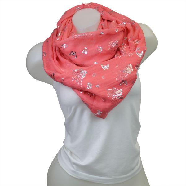 Damen Loop schal<br> Tuch gute Qualität<br>150485 Rot