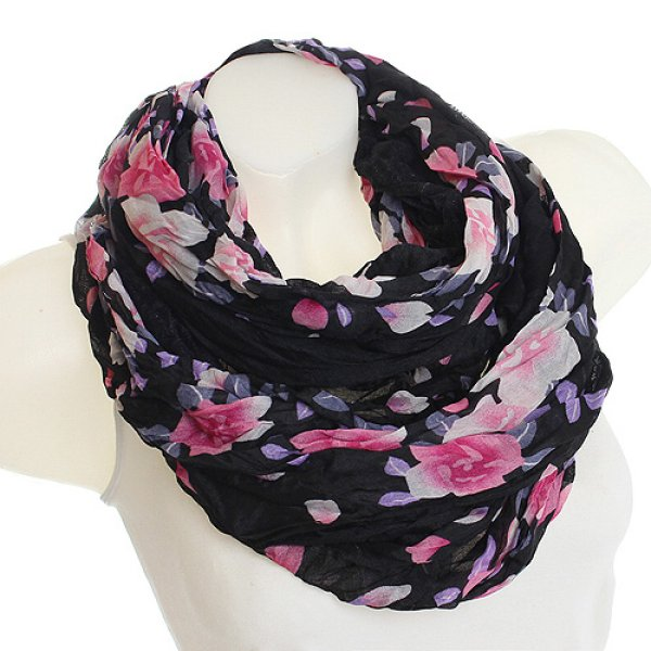 Ladies Loop scarf<br> scarf good quality<br>9D0020 Black