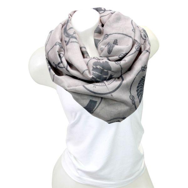 Damen Loop schal<br> Tuch gute Qualität<br>150701 Grau