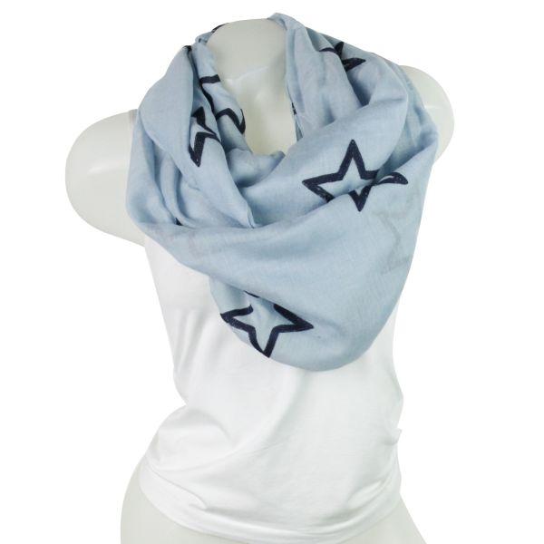 Damen Loop schal<br> Tuch gute Qualität<br>150806 Blau