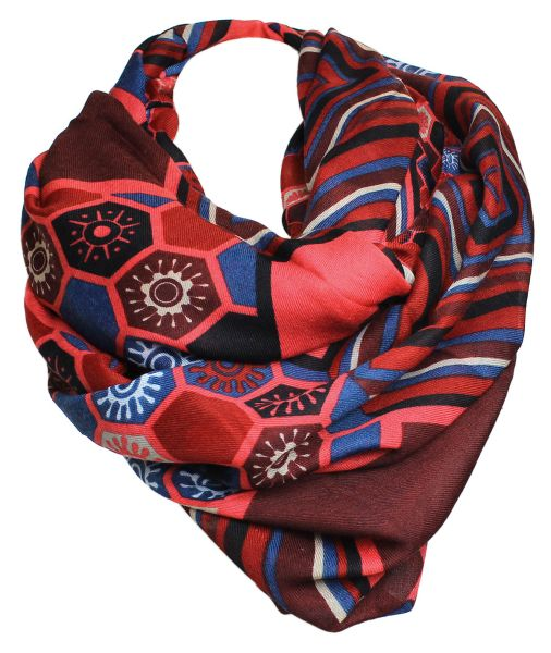 Damen Schal Tuch<br> Langschal 9D0187<br>Rot