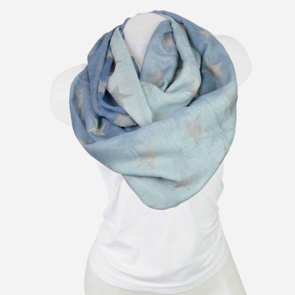 Damen Loop schal<br> Tuch gute Qualität<br>150881 Blau
