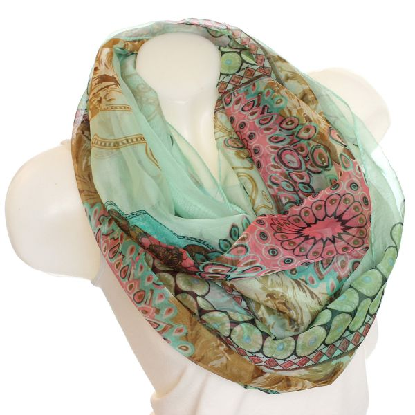 Ladies Loop scarf<br> scarf good quality<br>Sz-1404 Green