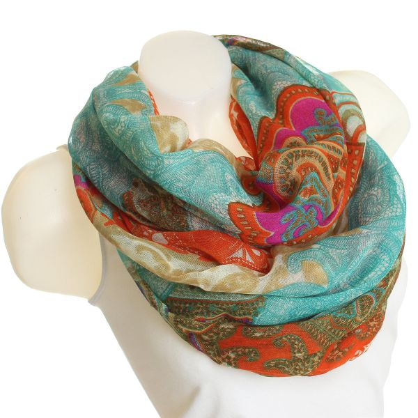 scarf loop SJL14 /<br>4 blue red
