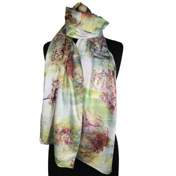 Ladies Scarf good<br> Qualität150983<br>green with colore