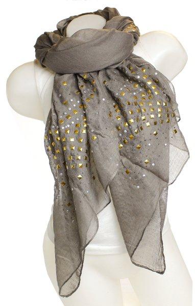 Ladies Loop scarf<br> scarf good quality<br>9D0193 Khaki