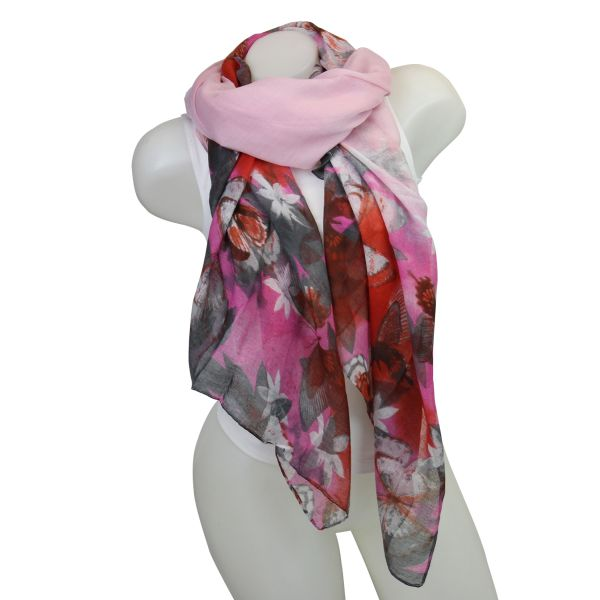 Ladies Loop scarf<br> good quality cloth<br>150552 Pink,
