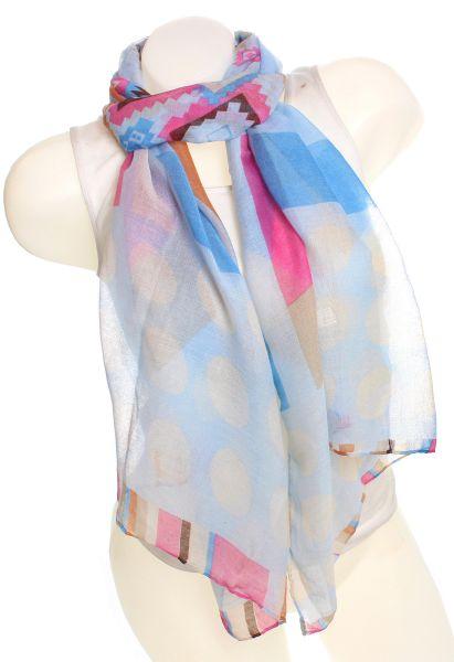 Ladies Loop scarf<br> scarf good quality<br>9D0070 Blue